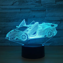 Roadster 3D Optical Illusion Lamp - 3D Optical Lamp