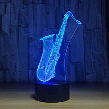 Round Pipe 3D Optical Illusion Lamp - 3D Optical Lamp
