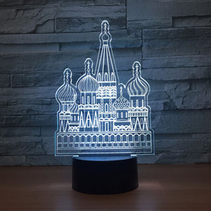 Russian Castle 3D Optical Illusion Lamp - 3D Optical Lamp