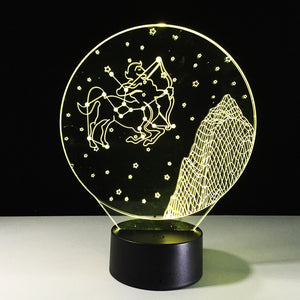 Sagittarius Horoscope 3D Optical Illusion Lamp - 3D Optical Lamp