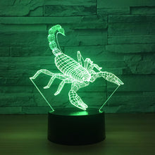 Adorable Scorpion 3D Optical Illusion Lamp - 3D Optical Lamp