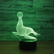 Adorable Sea Lion 3D Optical Illusion Lamp - 3D Optical Lamp