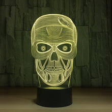 Scary Skull 3D Optical Illusion Lamp - 3D Optical Lamp
