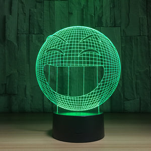 Laughing Face 3D Optical Illusion Lamp - 3D Optical Lamp