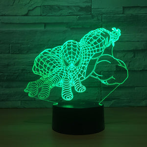 Marvel Inspired Spider Man Touch 3D Optical Illusion Lamp - 3D Optical Lamp