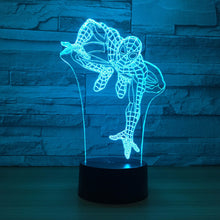 Marvel Inspired Climbing Spider Man 3D Optical Illusion Lamp - 3D Optical Lamp