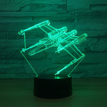 Strafing Plane 3D Optical Illusion Lamp - 3D Optical Lamp
