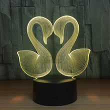 Swan Couple 3D Optical Illusion Lamp - 3D Optical Lamp