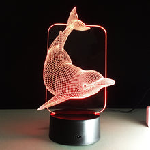 Swimming Dolphin 3D Creative Visual Lamp - 3D Optical Lamp