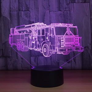 Trolley Bus 3D Optical Illusion Lamp - 3D Optical Lamp
