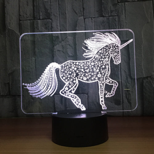 Unicorn Touch 3D Optical Illusion Lamp - 3D Optical Lamp