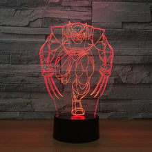 Wolverine 3D Optical Illusion Lamp - 3D Optical Lamp
