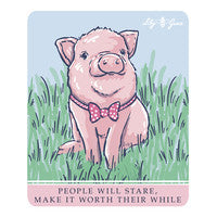 Lily Grace-Pig on Bike-Decal
