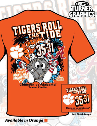 Clemson vs Alabama Score Tee