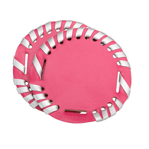 Monogrammable Interchangable Disk-Hot Pink