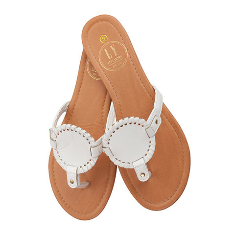 Monogrammable Sandals: White