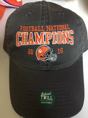 Clemson National Championship Hat-Dark Grey