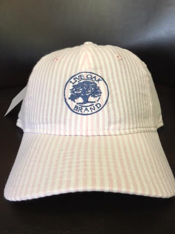 Live Oak Brand-Hat-Pink/White Seersucker