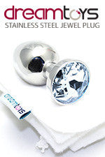 Stainless Steel Jewel Butt Plug Small - Diamond