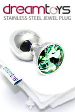 Stainless Steel Jewel Butt Plug Small - Emerald Green