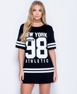 'Emily' New York 98 T-shirt Dress | Oopsie