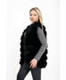 Black Faux Fur Ribbed Gillet | Oopsie