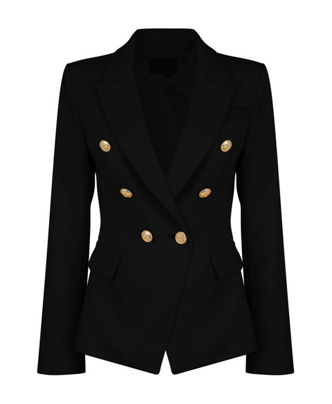 'Aliza' Double-Breasted Military Style Blazer