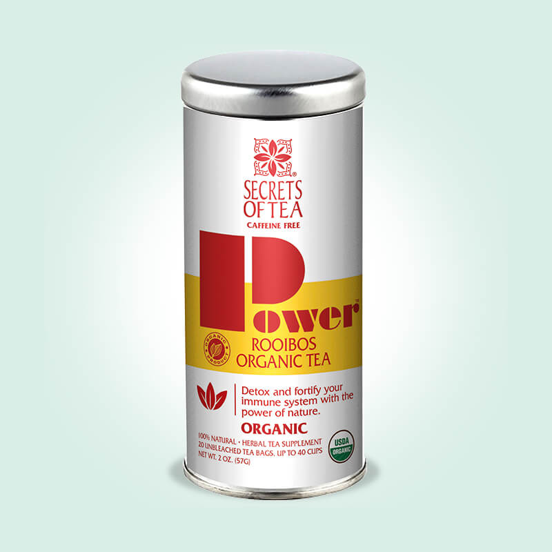 Power Rooibos Tea- USDA Organic- 20 Sachets- Up To 40 Servings