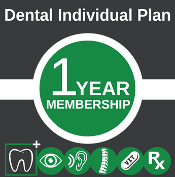 Individual Dental Plan 1yr. Membership
