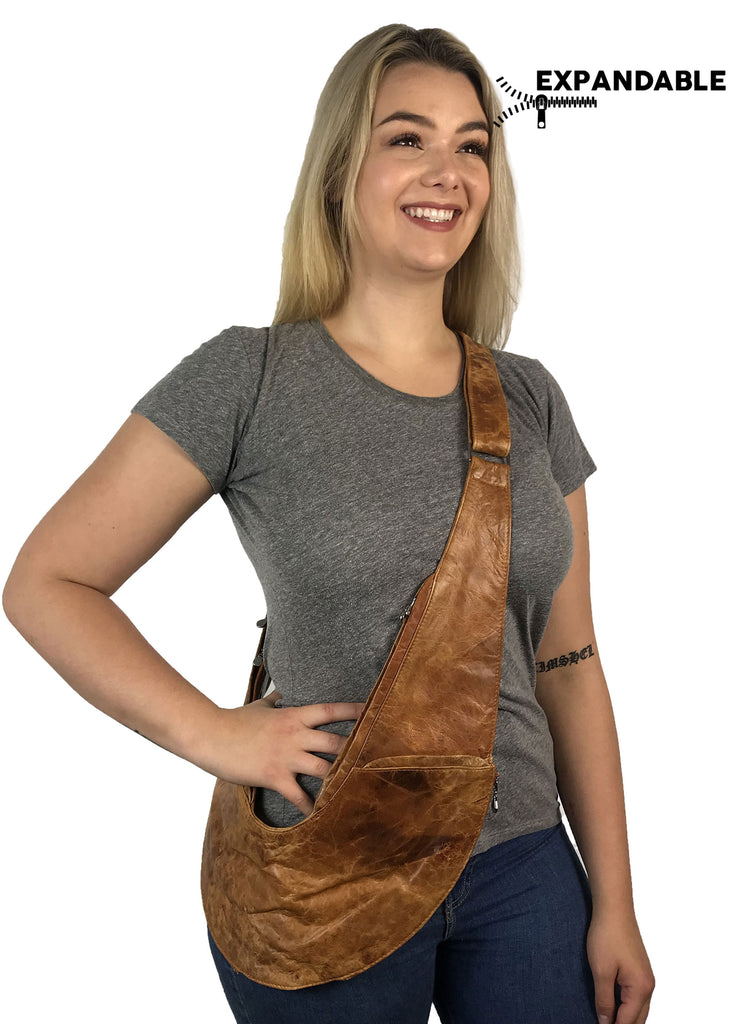 PRE-ORDER: Honey Classic Expandable Leather Sash Bag
