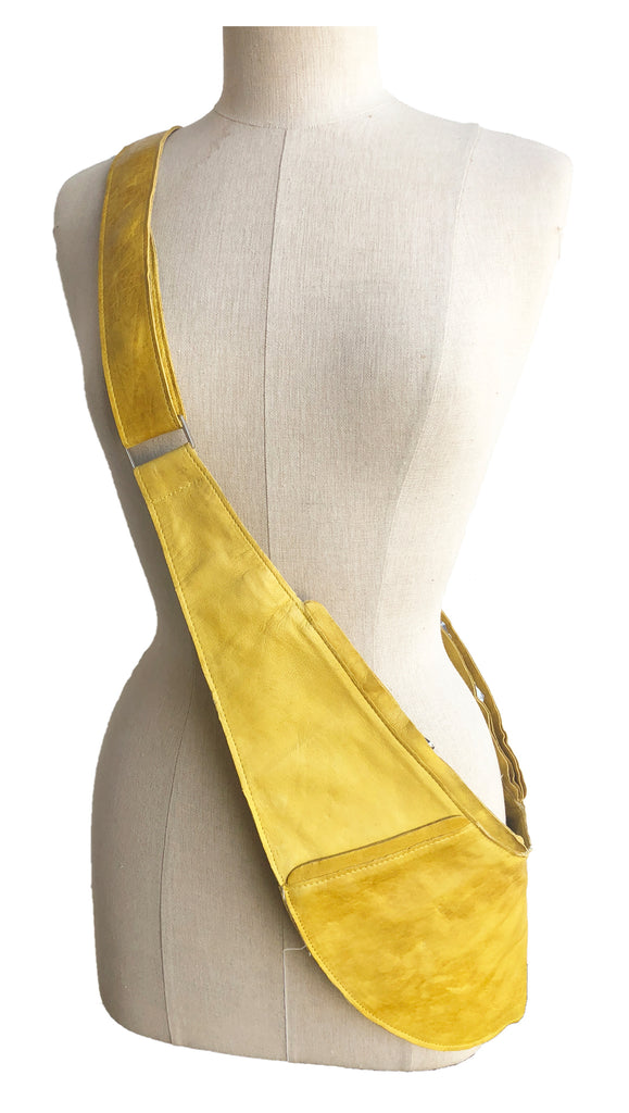 Yellow Luxe Leather Sash