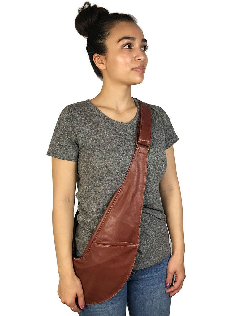 Saddle Brown Classic Leather Sash Bag