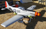 "TopRCModel 89"" WS All Composite Giant Scale Warbird 50-60cc P-51D Mustang Old Crow Edition"