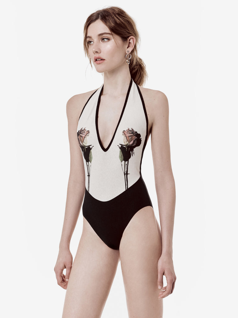 ABSTRACT ROSE, ONE PIECE SWIMSUIT