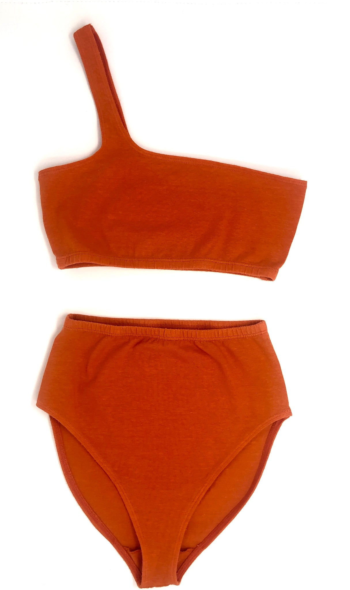 SOLID BIKINI BOTTOM, BURNT ORANGE