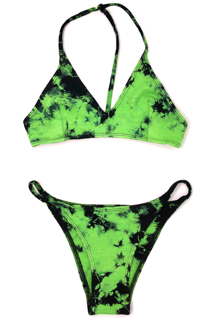 ONE STRING BIKINI BOTTOM, DART FROG GREEN