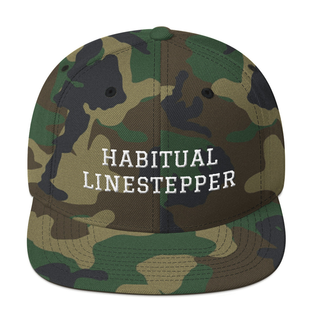 Habitual Linestepper Snapback Hat White Stitching