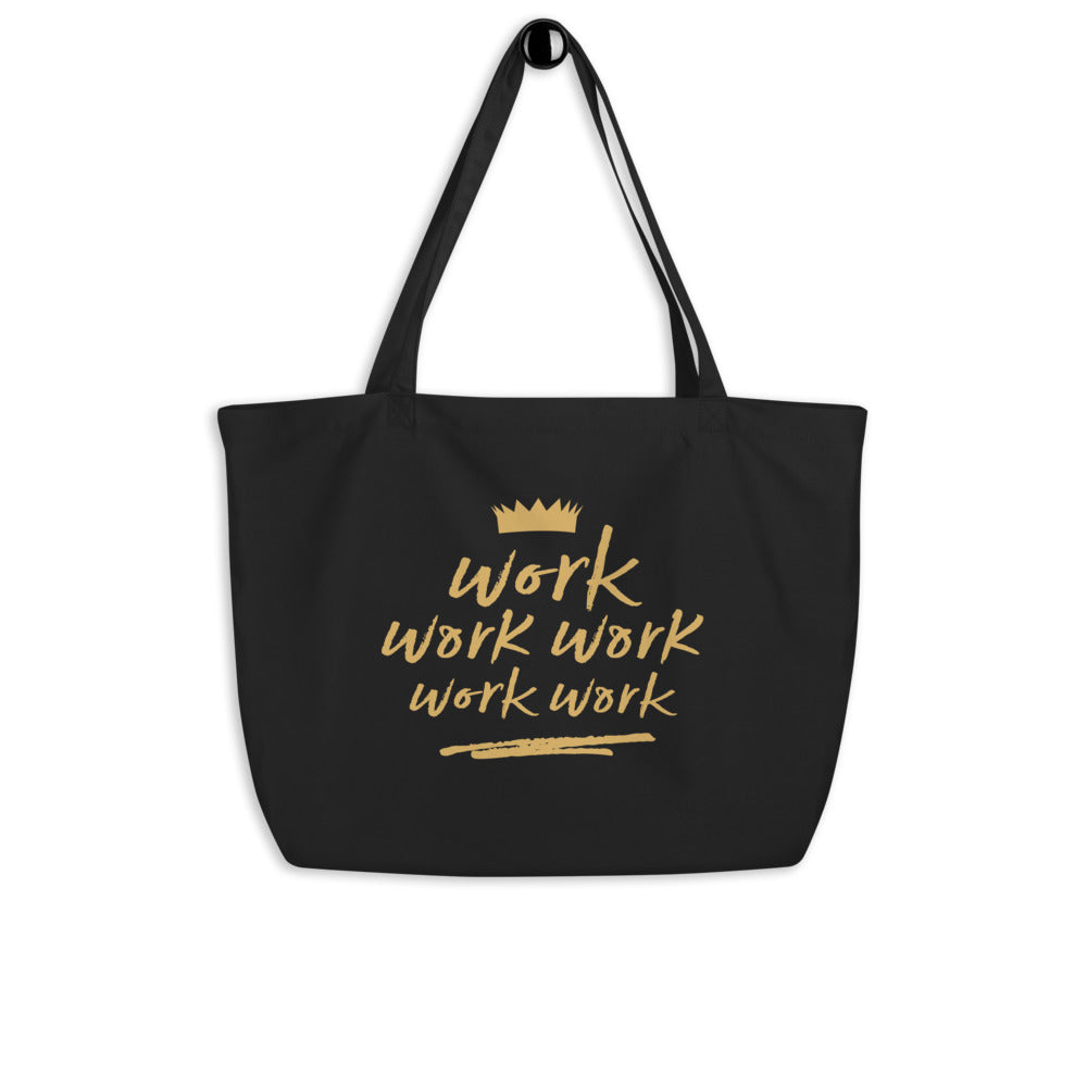 Work - Large organic tote bag