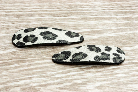 Black &  White Animal Print Barrette