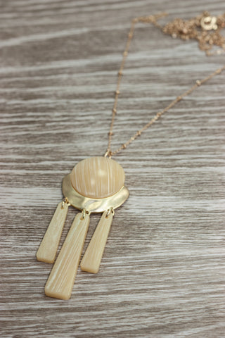 Butter Yellow Drop Necklace