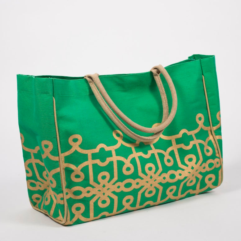 Green & Gold Florence Tote