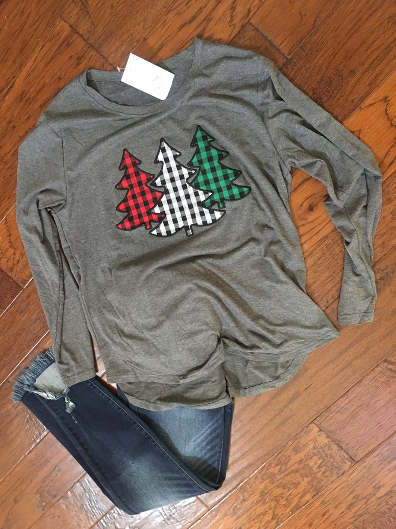 Buffalo Check Christmas Tree Tee