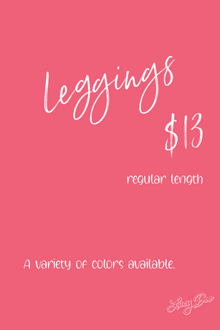 Solid Regular Length Leggings