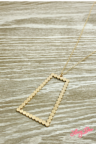 Gold Long Trapezoid Necklace