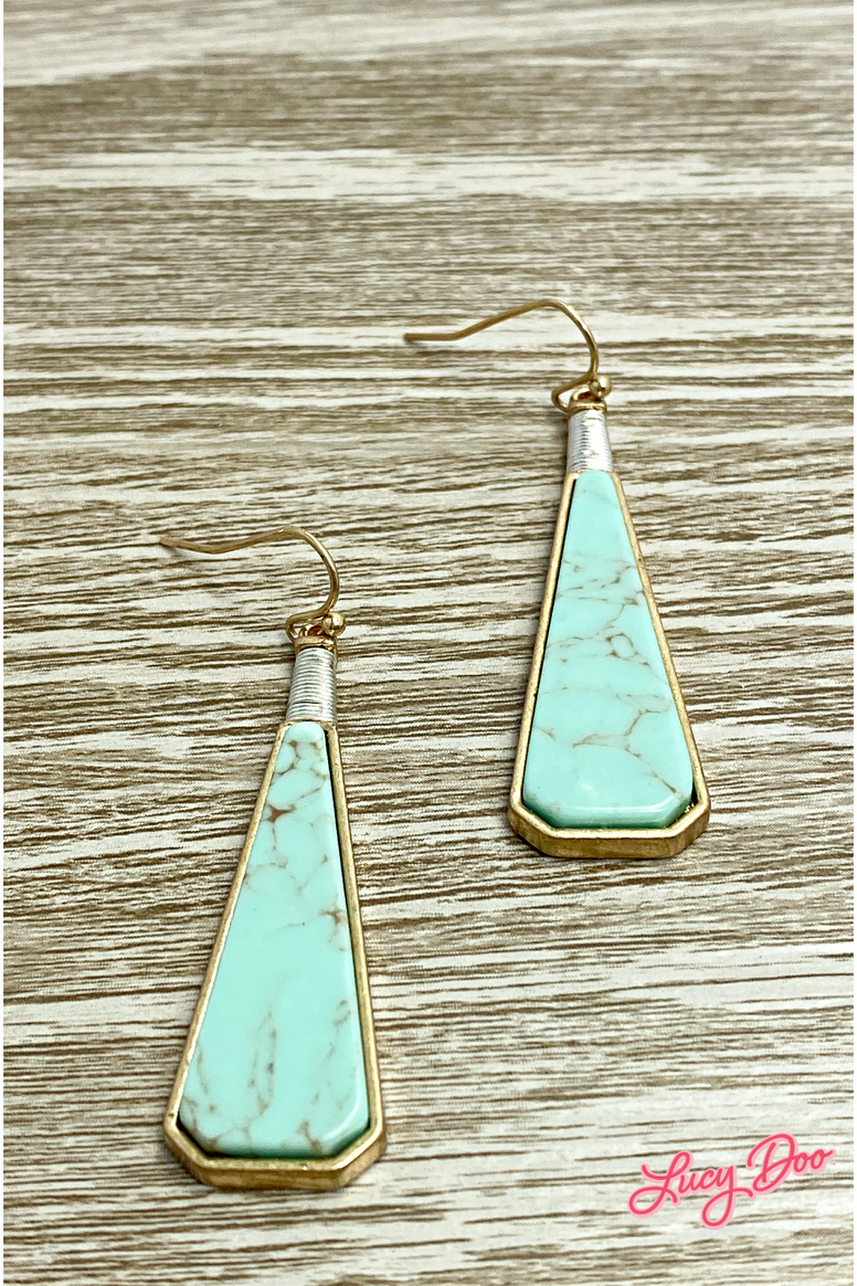 Light Turquoise Drop Earrings
