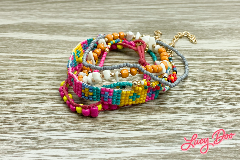 Mixed Beaded Stackable Bracelets
