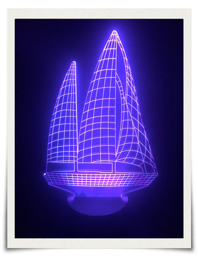 3D SAILBOAT LAMP