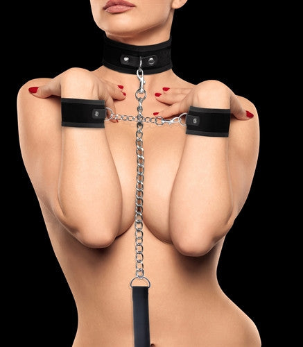 Ouch! Velcro Collar with Separate Cuffs