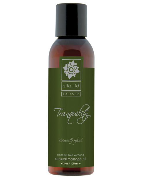 Sliquid Organics Massage Oil - Tranquility - 4.2 oz.