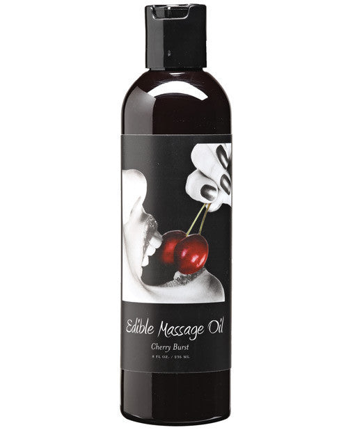 Earthly Body Edible Massage Oil 8 oz. - Cherry